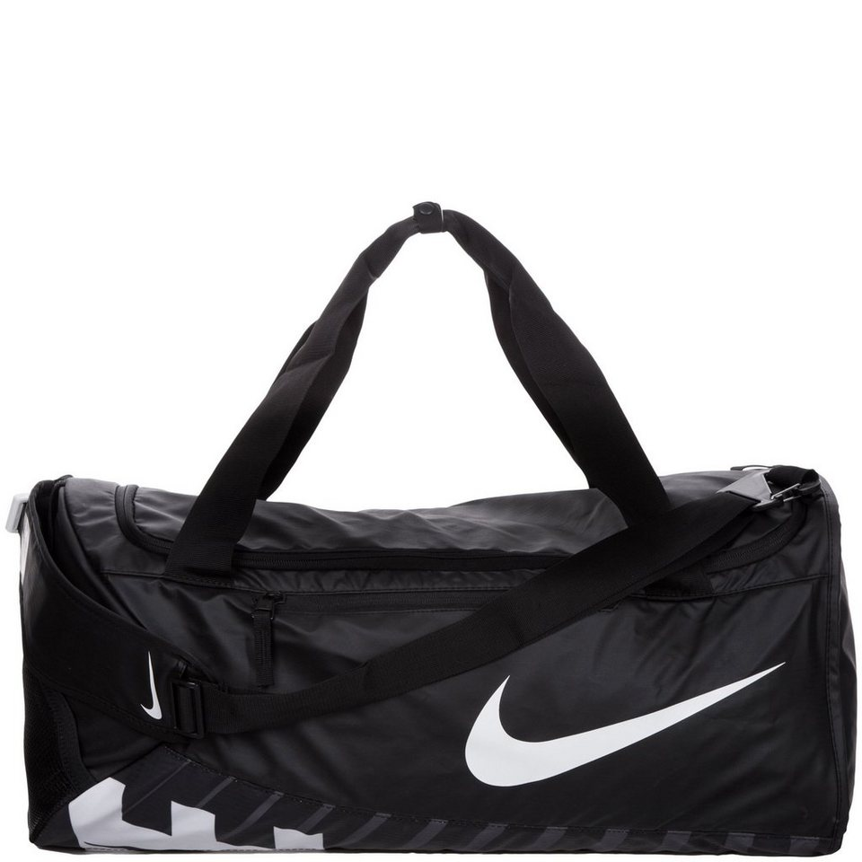 NIKE Alpha Adapt Cross Body Sporttasche Large in schwarz / weiß