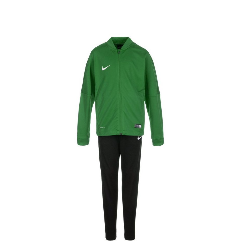 NIKE Set: Academy 16 Trainingsanzug Kinder (Packung, 2 tlg.) in grün / schwarz