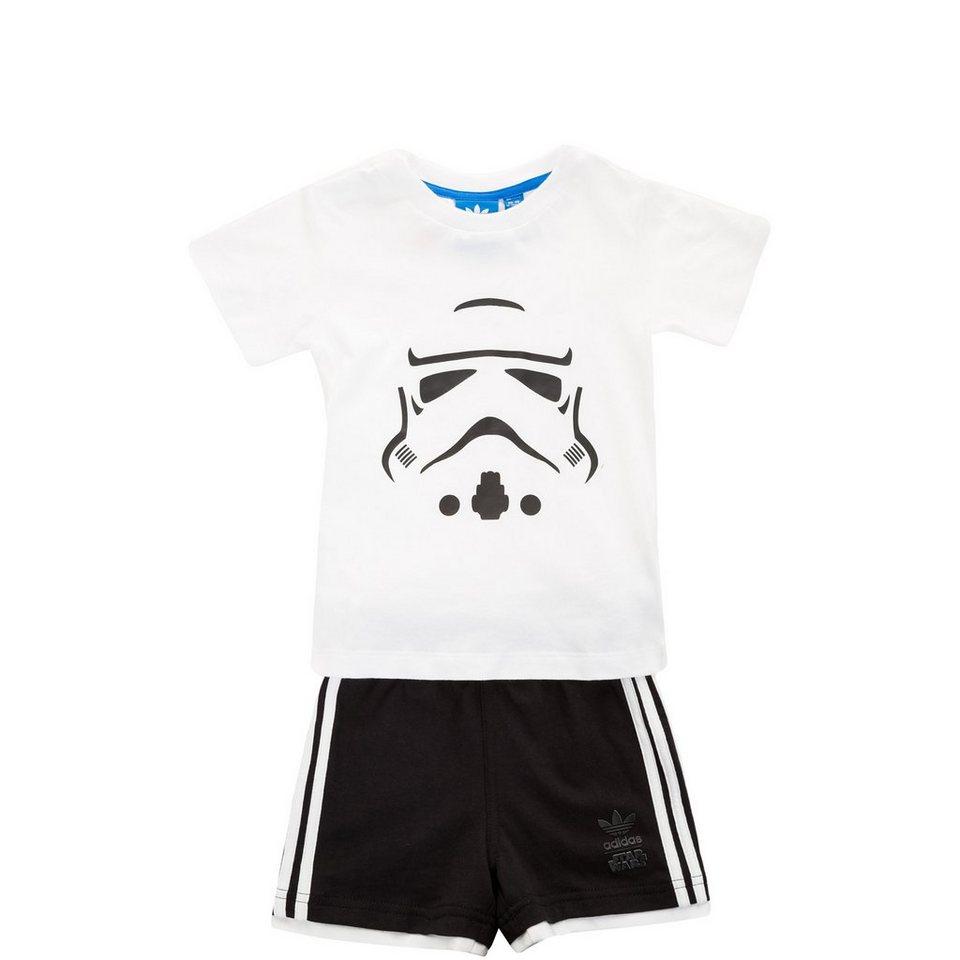 adidas Originals Set: Star Wars Storm Trooper Set Kleinkinder in weiß / schwarz