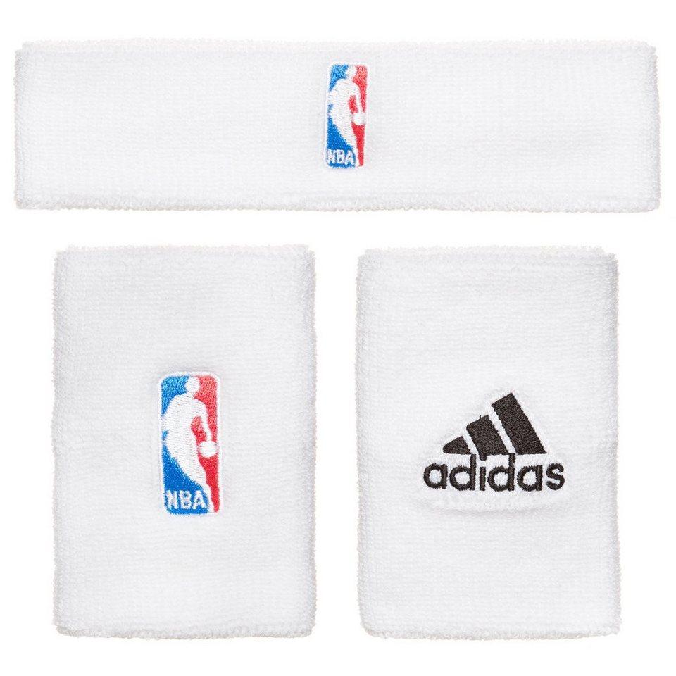 adidas Performance Set: NBA Schweißband Set in weiß / blau / rot