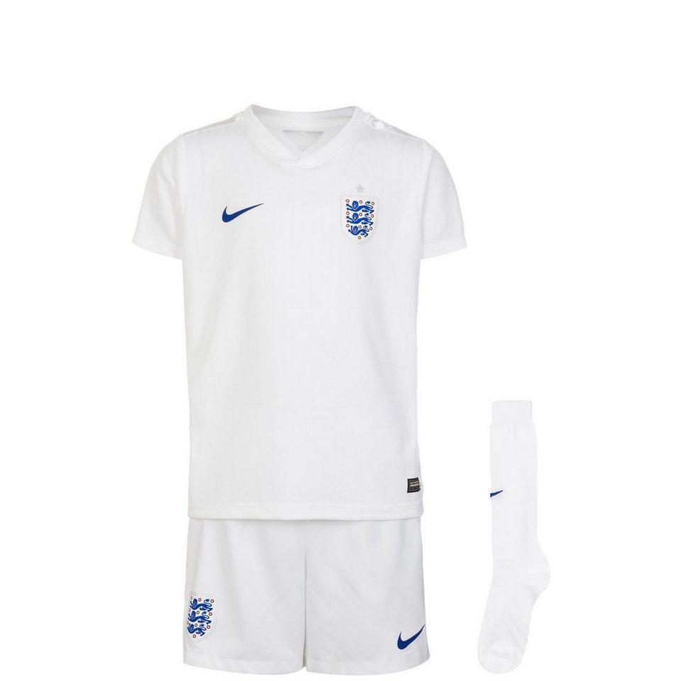 NIKE Set: England Minikit Home WM 2014 Kinder in weiß / blau
