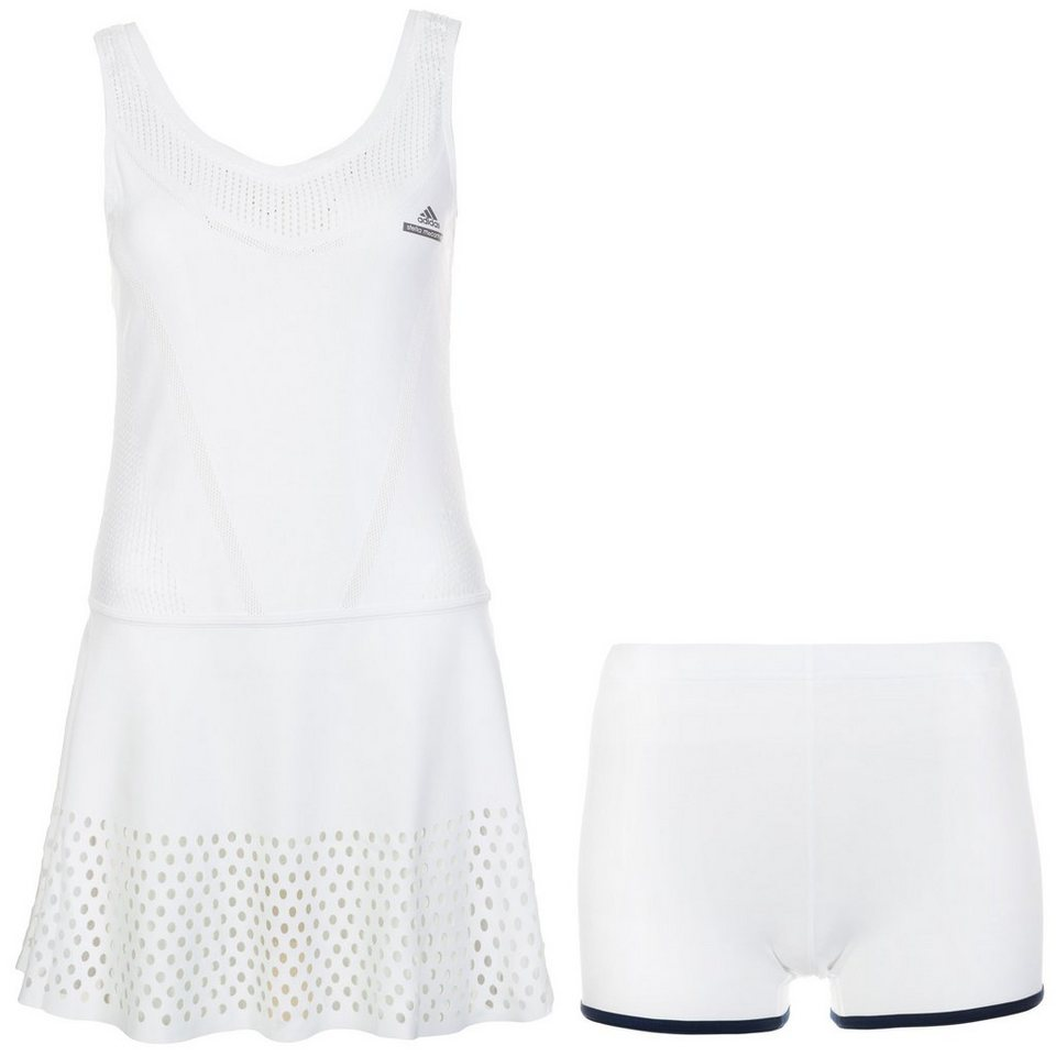 adidas Performance Set: Stella McCartney Barricade Tenniskleid Damen in weiß / dunkelblau