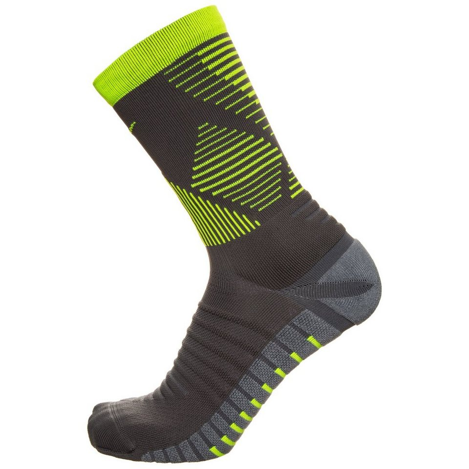 NIKE Set: Strike Mercurial Crew Socken in grau / neongelb