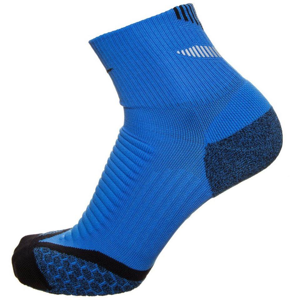 NIKE Set: Elite Cushion Quarter Laufsocken in blau / schwarz