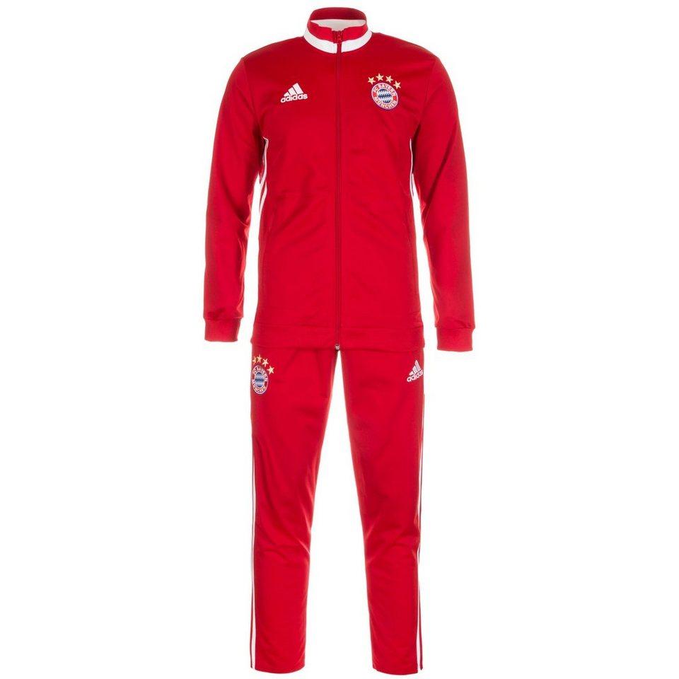 adidas Performance Set: FC Bayern München Trainingsanzug Herren (Packung, 2 tlg.) in rot / weiß