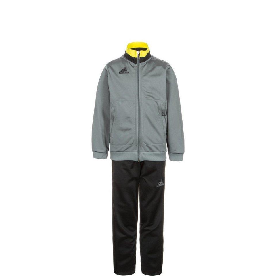 adidas Performance Set: Condivo 16 Polyesteranzug Kinder (Packung, 2 tlg.) in grau / schwarz