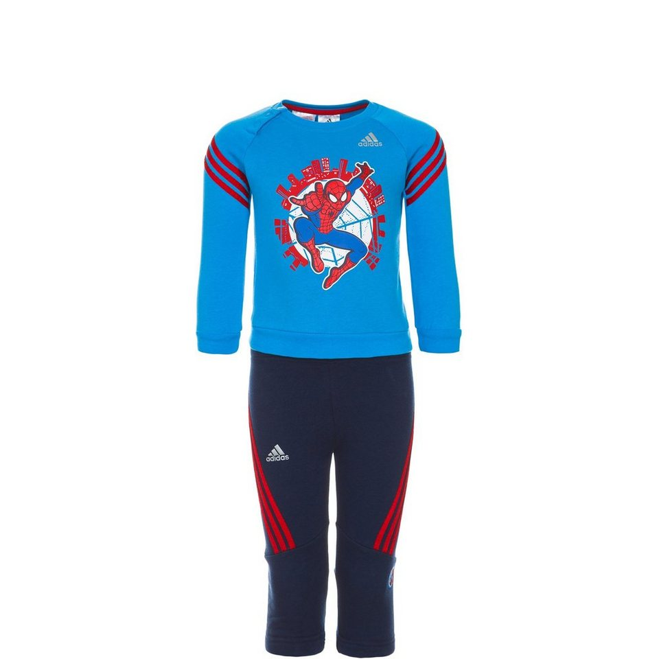 adidas Performance Set: Spiderman Crew Trainingsanzug Kleinkinder (Packung, 2 tlg.) in blau / rot
