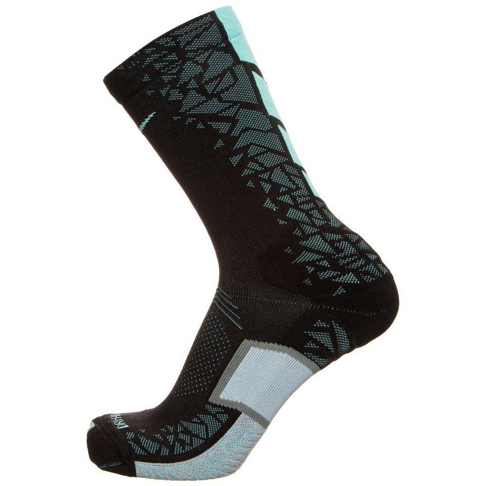 NIKE Set: Match Fit Elite Hypervenom Crew Socken in schwarz / türkis