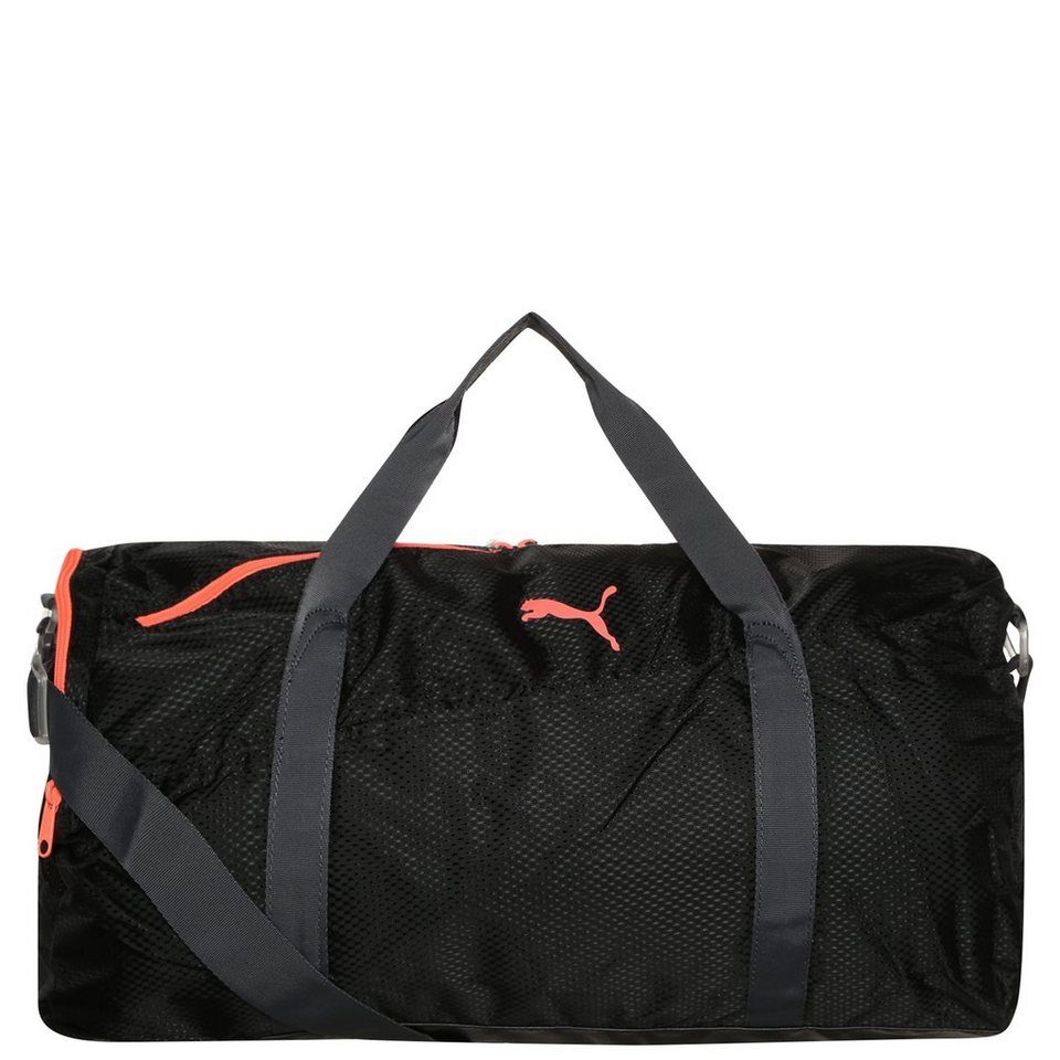 PUMA Fit Active Trainingstasche Large in schwarz / orange