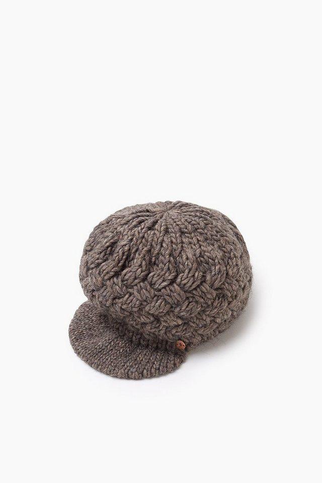 EDC Ballonmütze aus Grobstrick m. Wolle in TAUPE