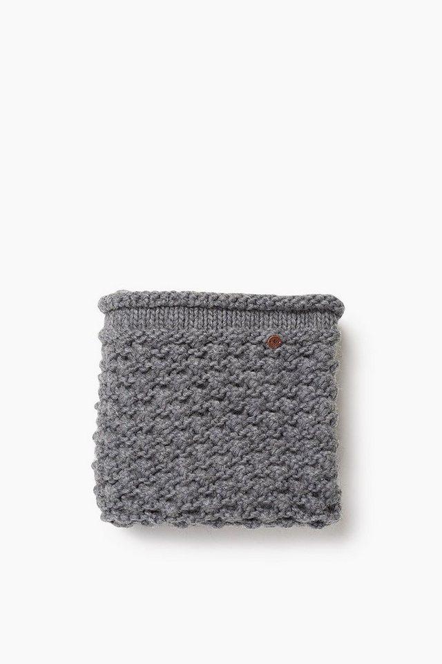 EDC Loop-Schal aus wollenem Perlstrick in DARK GREY