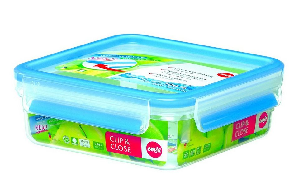 Emsa Dose 3D Perfect Clean »Clip & Close« in Transparent, Blau