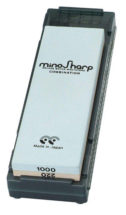 minoSharp Schleifstein 220/1000 in Blau, Braun