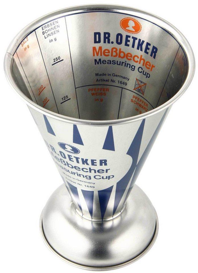 Dr. Oetker Messbecher »Nostalgie« in Silber