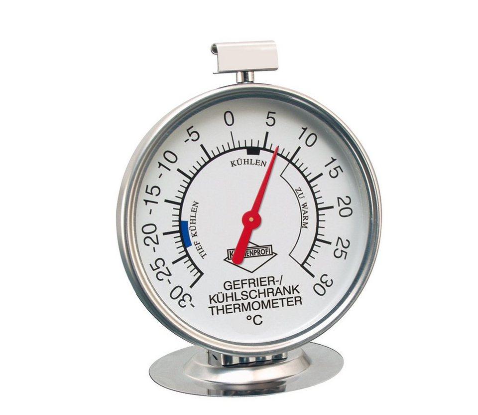 Küchenprofi Kühlschrank-Thermometer in Silber
