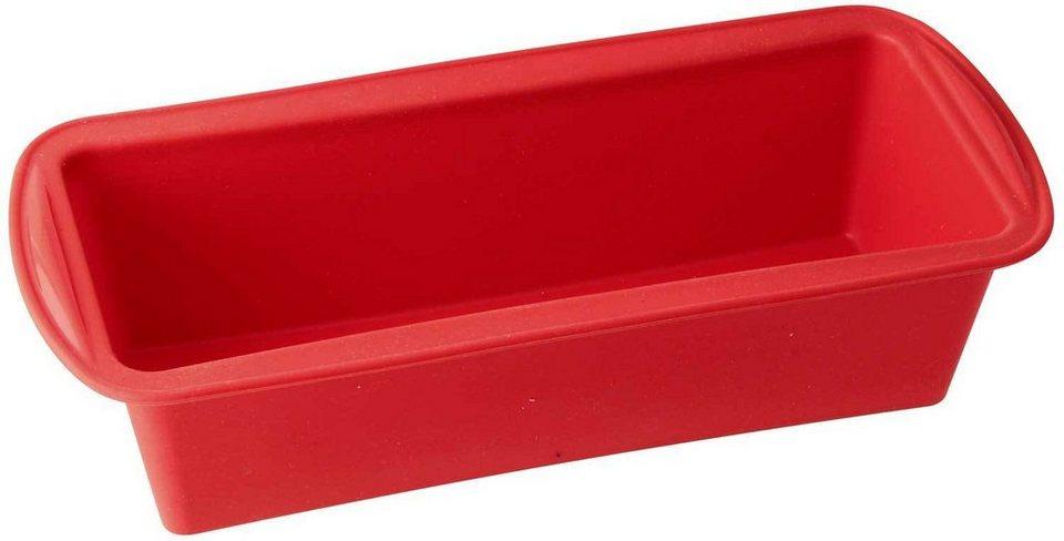 Dr. Oetker Kastenform Silikon »Flexxible« in Rot