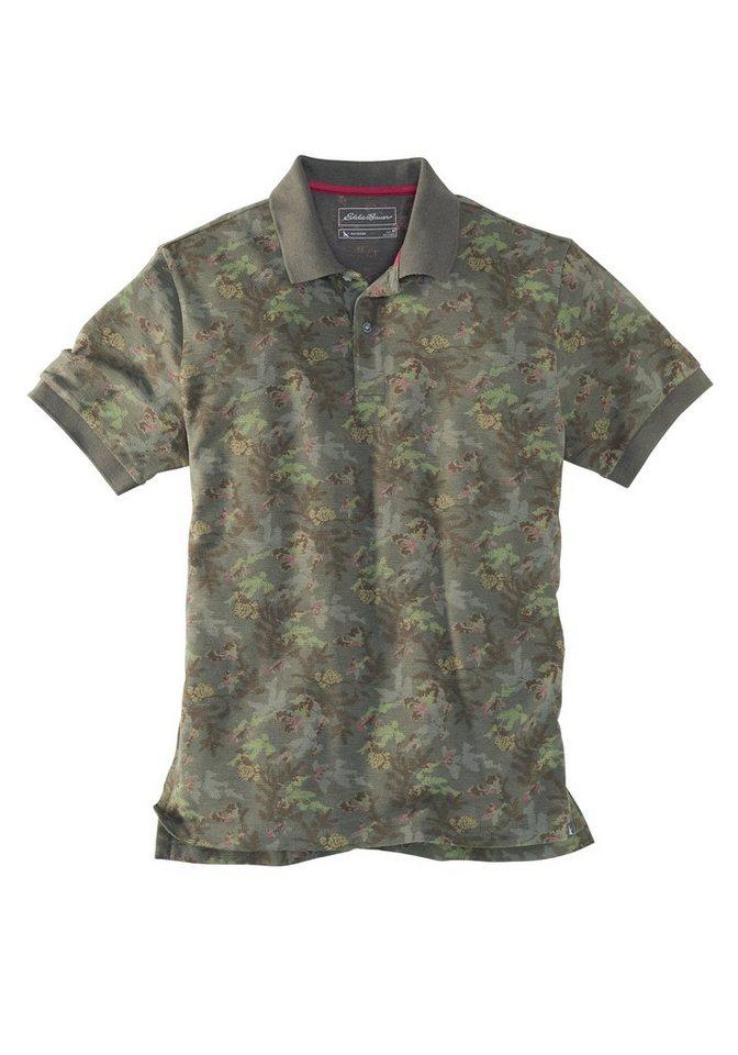 Eddie Bauer Poloshirt mit Palmendruck in Grün