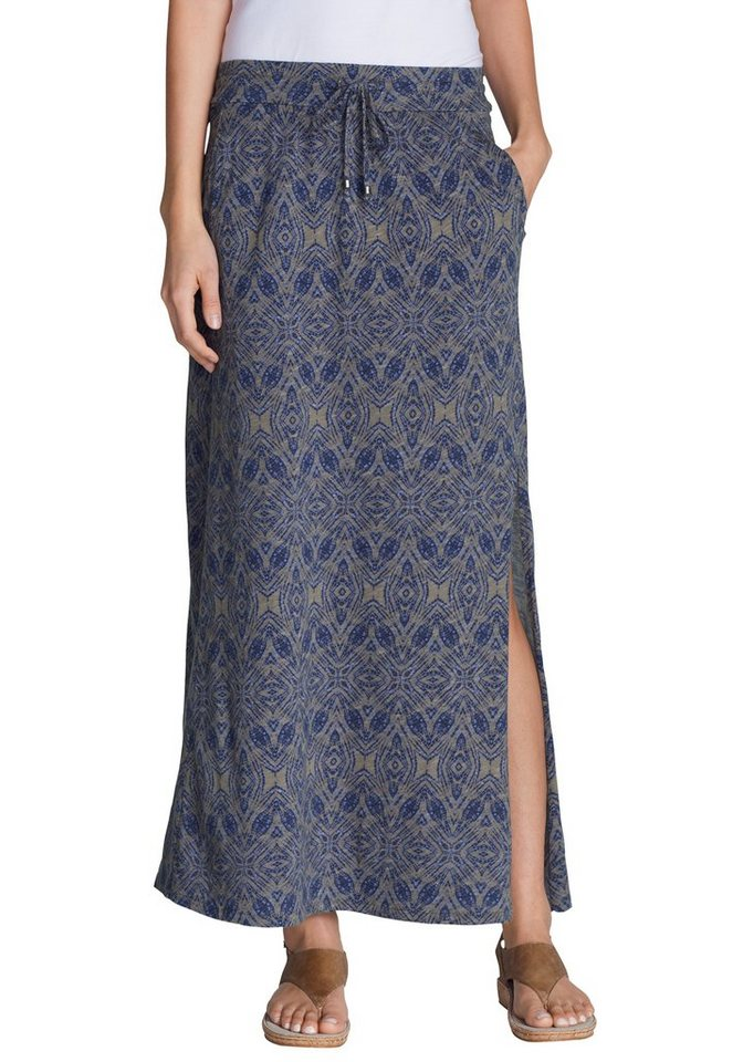 Eddie Bauer Maxi-Rock in Navy