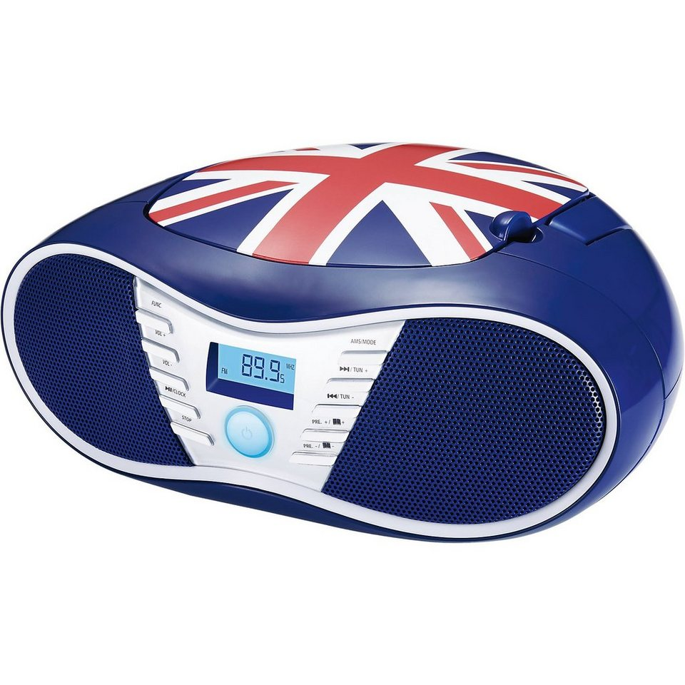 bigben cd player mit usb radio cd58 union jack otto. Black Bedroom Furniture Sets. Home Design Ideas