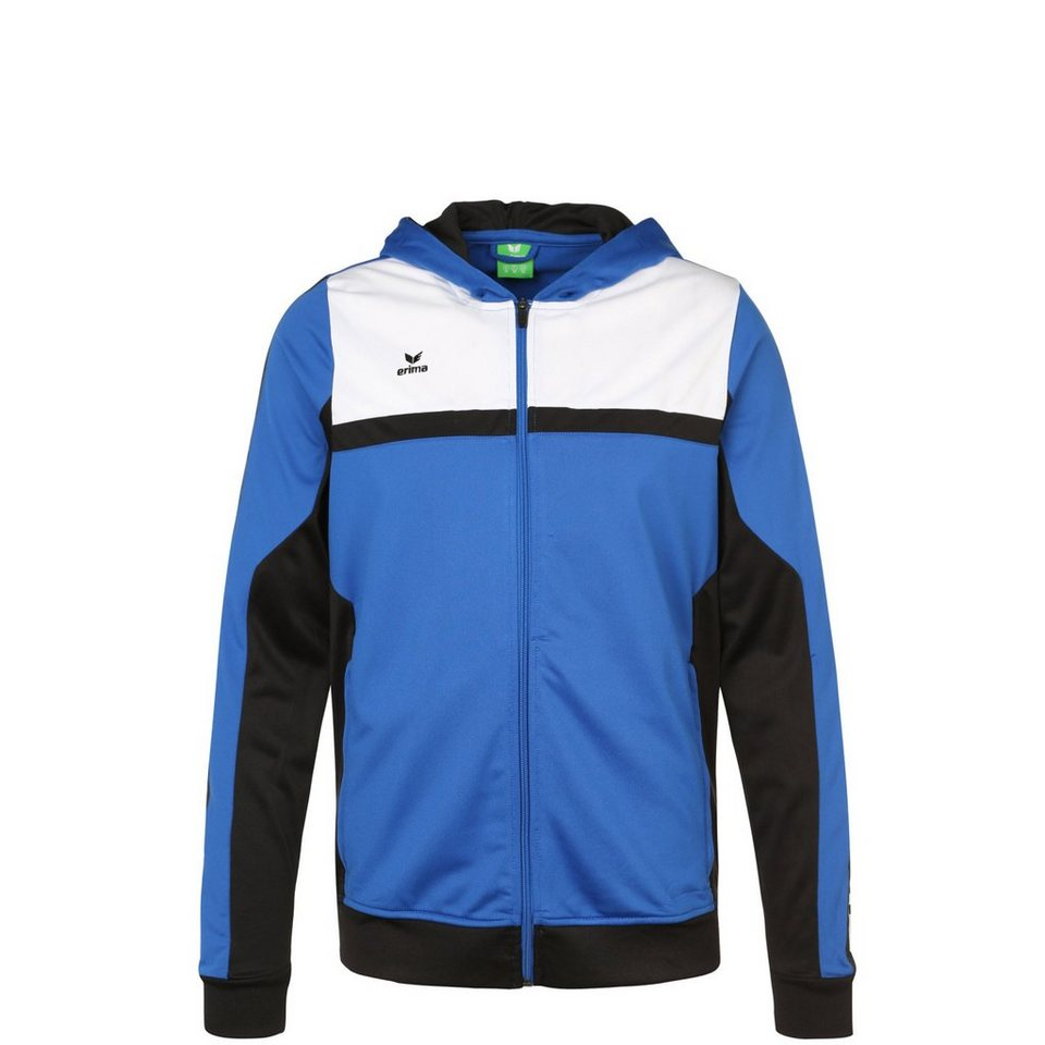ERIMA 5-CUBES Trainingsjacke mit Kapuze Kinder in blau/schwarz/weiß