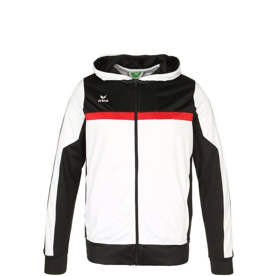 ERIMA 5-CUBES Trainingsjacke mit Kapuze Kinder in weiß/schwarz/rot