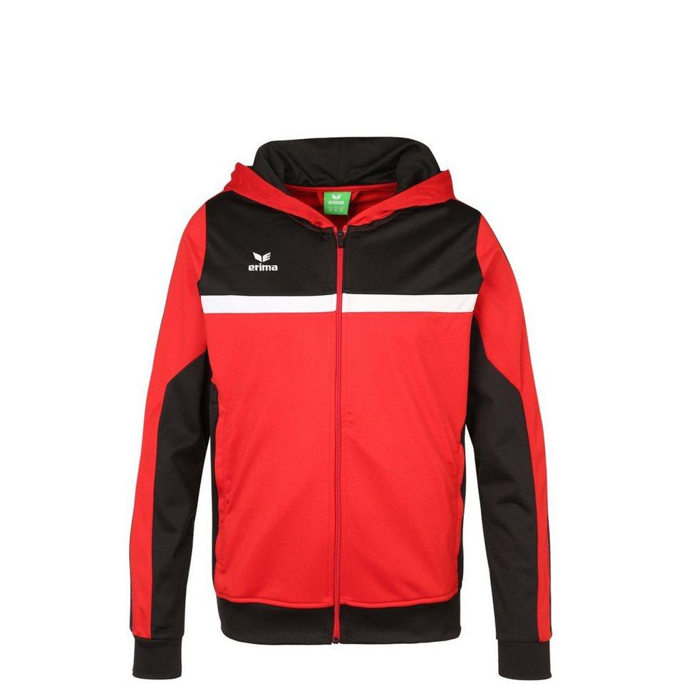 ERIMA 5-CUBES Trainingsjacke mit Kapuze Kinder in rot/schwarz/weiß