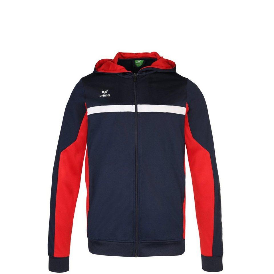 ERIMA 5-CUBES Trainingsjacke mit Kapuze Kinder in new navy/rot