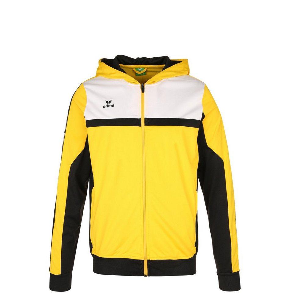 ERIMA 5-CUBES Trainingsjacke mit Kapuze Kinder in gelb/schwarz/weiß