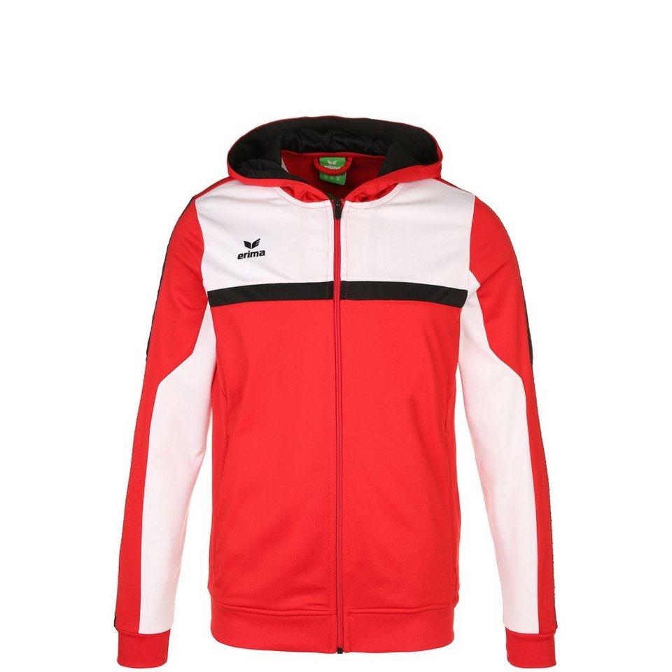 ERIMA 5-CUBES Trainingsjacke mit Kapuze Kinder in rot/weiß/schwarz