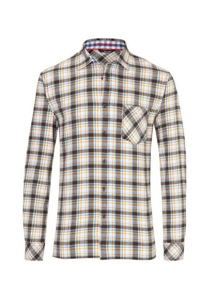 BRAX GOLF Hemd »HANK« in WHITE