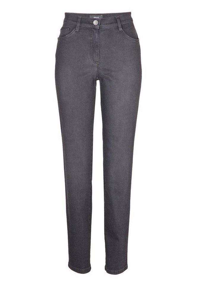 BRAX Jeans »CAROLA« in USED DARK GREY