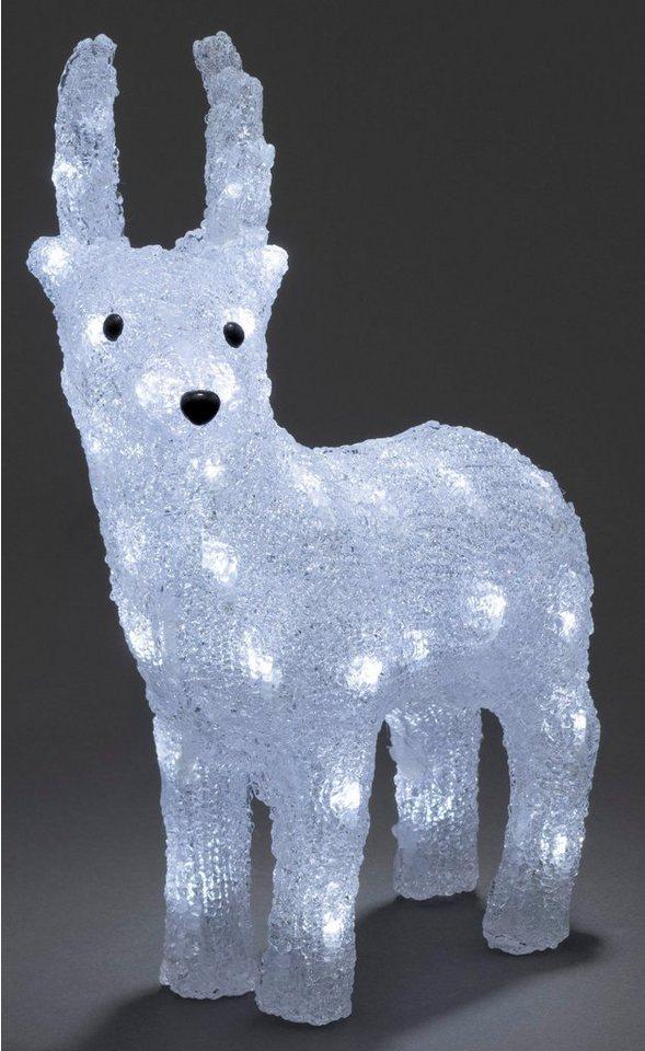 Konstsmide LED Acryl Rentier in weiß