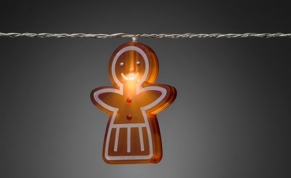 Konstsmide LED Lichterkette, »Lebkuchenfrauen« in braun