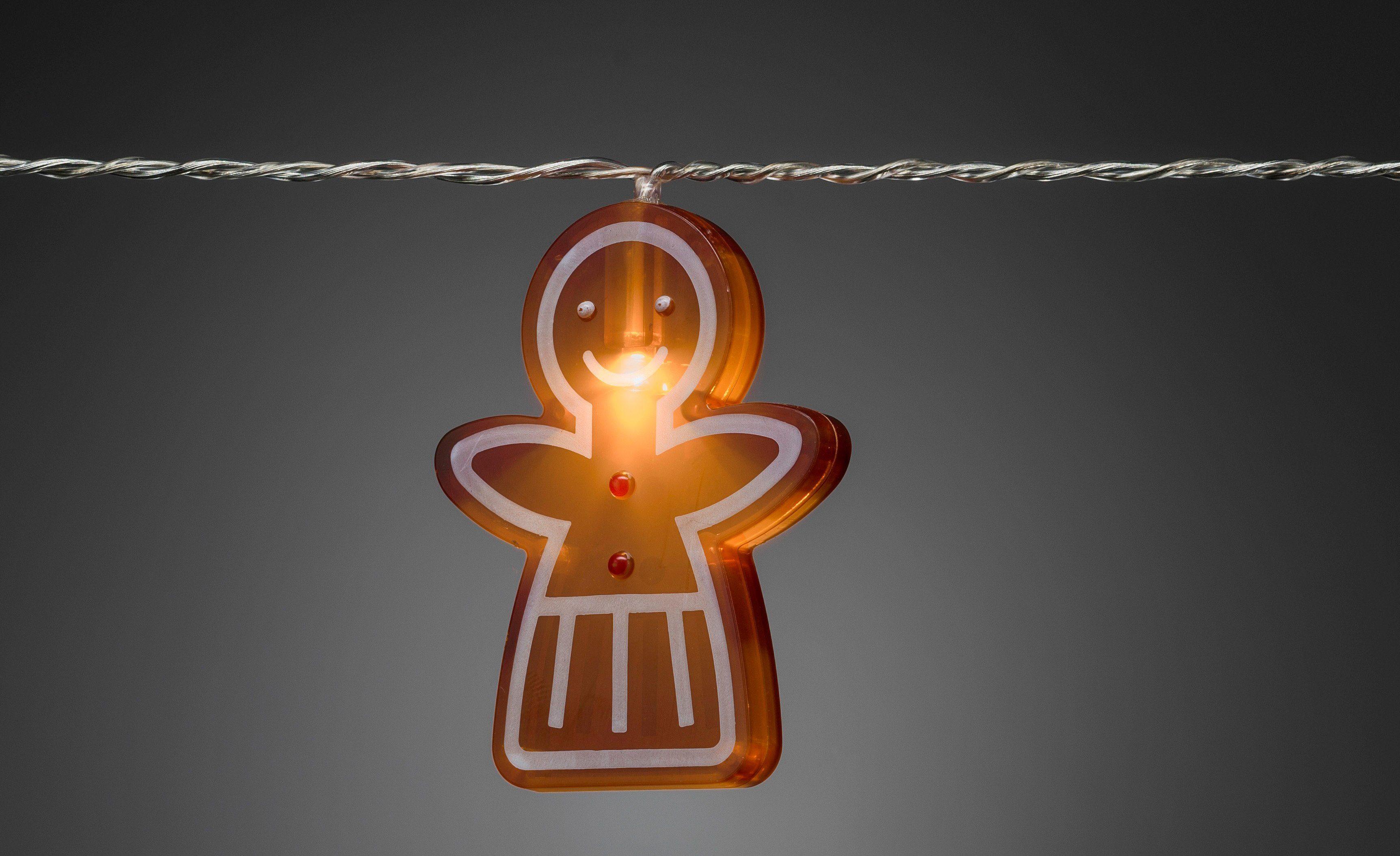 Konstsmide LED Lichterkette, »Lebkuchenfrauen«