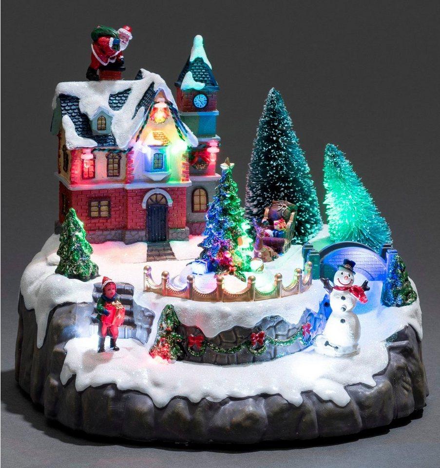 Konstsmide LED Szenerie, »Wohnhaus mit Weihnachtsbäumen« in bunt
