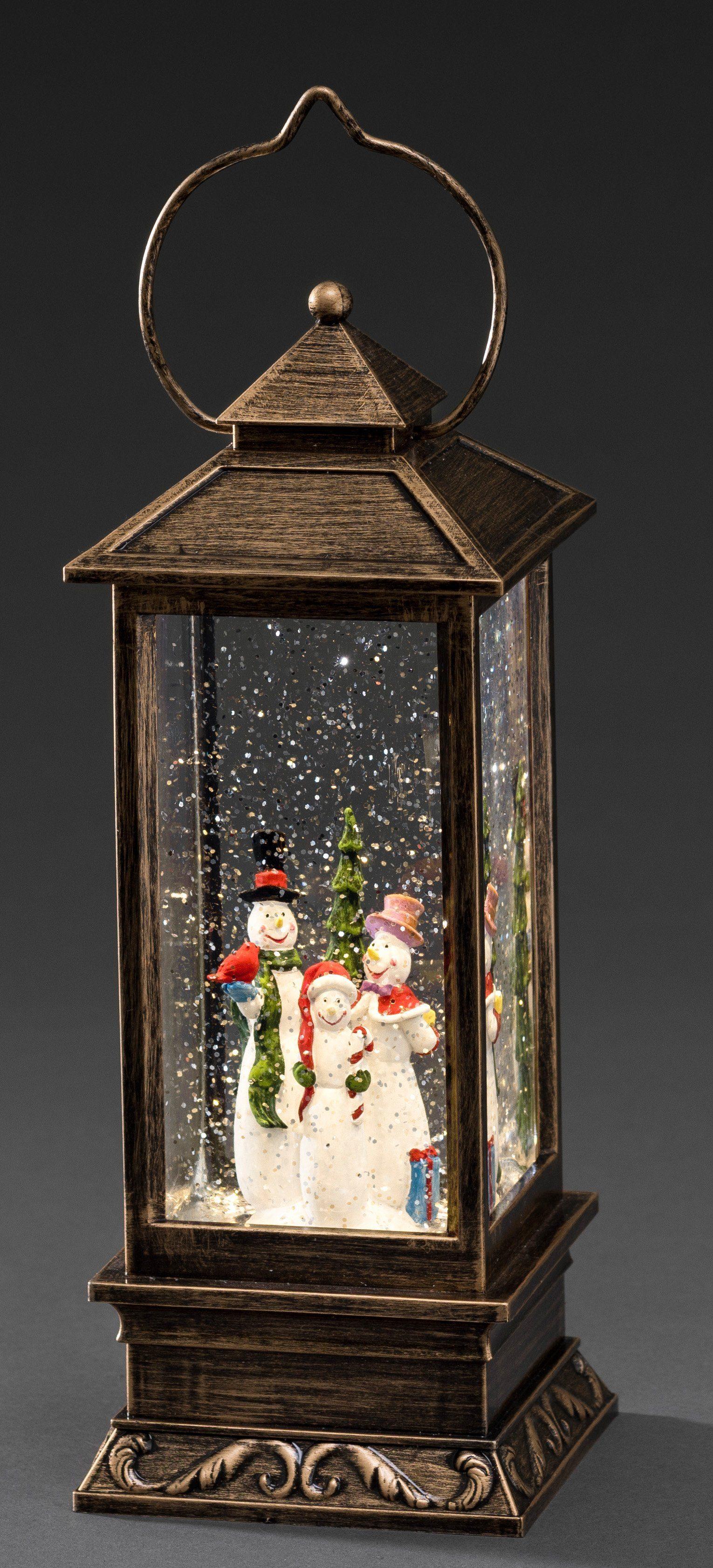 Konstsmide LED Schneelaterne, »Schneemänner«