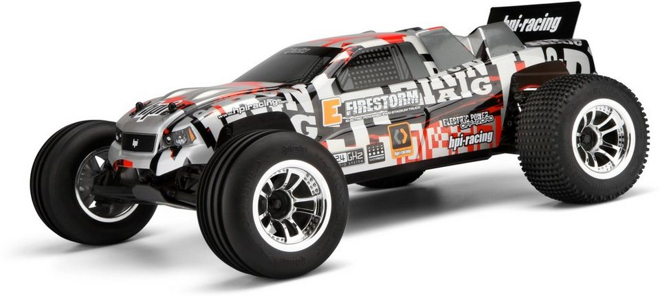 HPI Racing RC Komplettset, »E Firestorm 10T RTR mit DSX-2 Truck Karosserie 2,4 GHz 1:10«