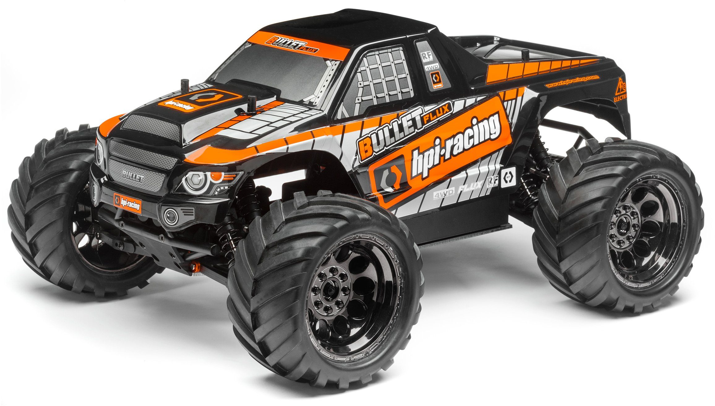 HPI Racing RC Auto, »Bullet MT Flux Brushless Monster Truck 1:10 2,4 GHz«