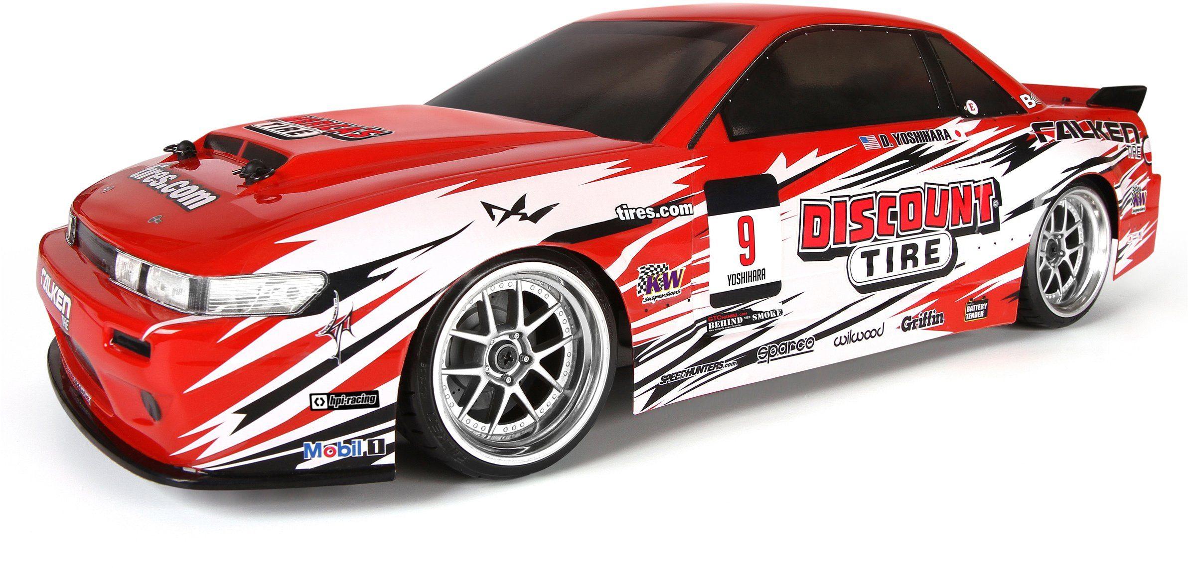 HPI Racing RC Komplettset, »E10 Drift Discount Tire, Nissan S13 1:10 2,4 GHz«