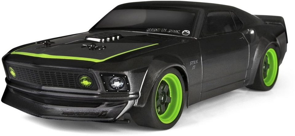 HPI Racing RC Komplettset, »Micro RS4, 1969 Ford Mustang RTR-X 1:18 2,4 GHz« in schwarz