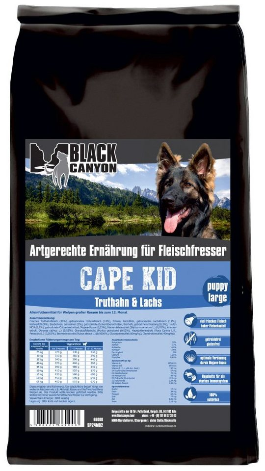 Hundetrockenfutter »Cape Kid Puppy Large«, 15 kg in braun