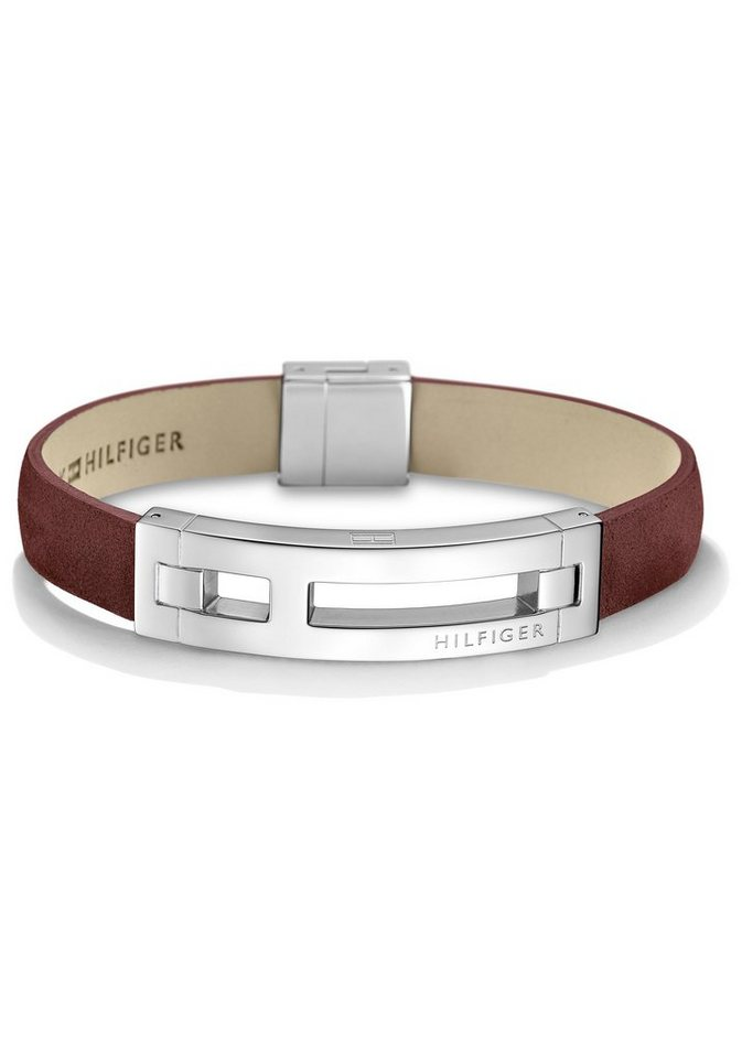 Tommy Hilfiger Armband »Men's Casual, 2700877« in silberfarben-rot