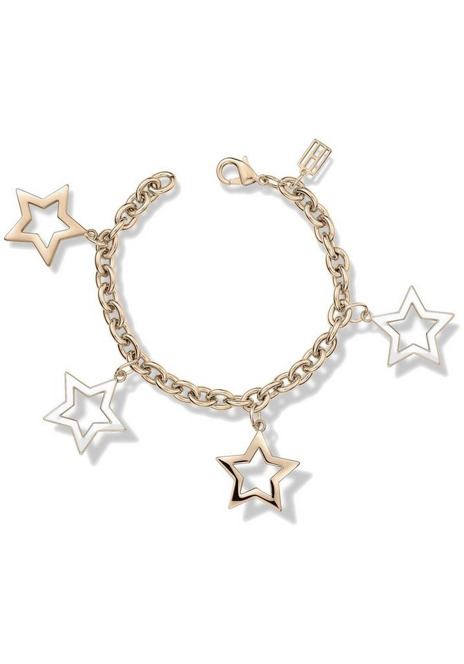 Tommy Hilfiger Armband »Stern, Classic Signature, 2700892« in roségoldfarben-weiß