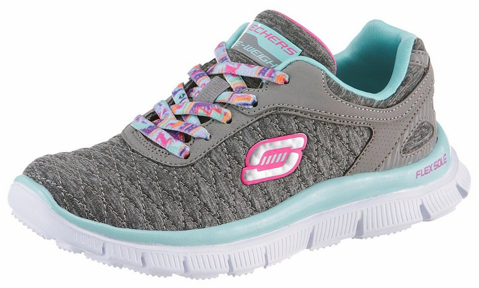 Skechers Kids Sneaker mit Gel-Infused Memory Foam in grau-türkis