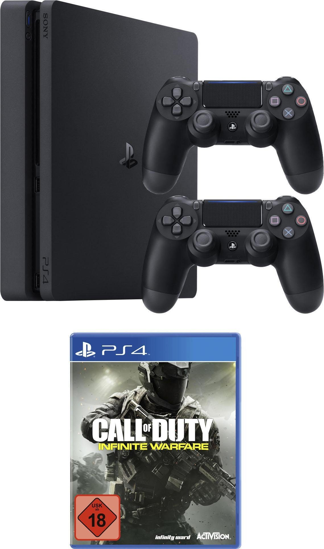 PlayStation 4 (PS4) 1TB Slim + Call of Duty: Infinite Warfare + 2. Controller