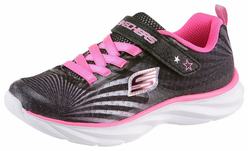 Skechers Kids Sneaker in schwarz-pink