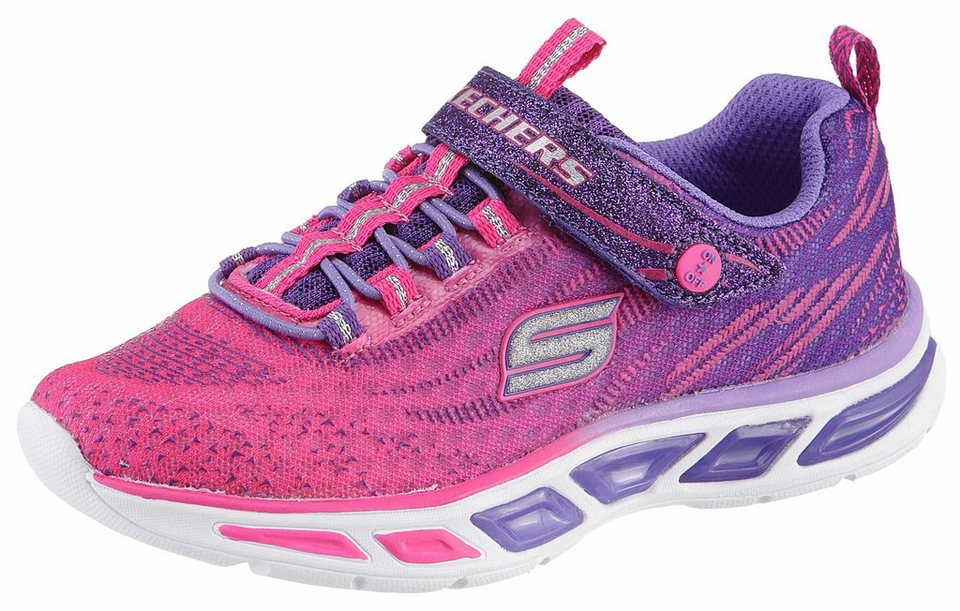 Skechers Sneaker mit Blinkfunktion in pink-lila