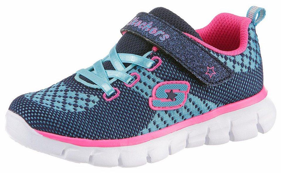 Skechers Sneaker in blau-pink