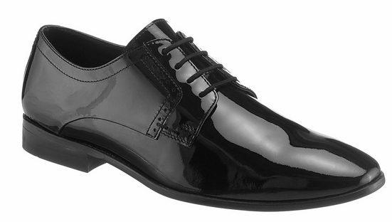 PETROLIO Schnürschuh aus elegantem Lackleder