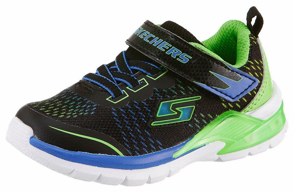 Skechers Sneaker mit Blinkfunktion in schwarz-grün
